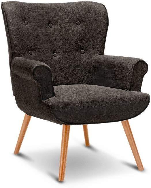 interougehome Fauteuil de séjour Vintage Style scandinave, Fauteuil de Salon au Design Nordique – Café